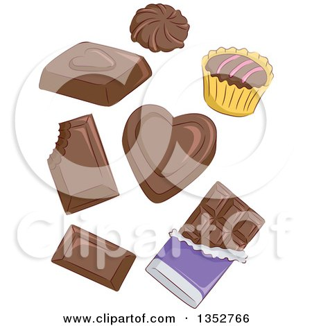 Clipart of Chocolate Candies - Royalty Free Vector Illustration by BNP Design Studio