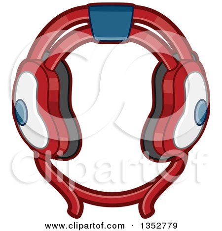 Clipart Of Wrestling Head Gear Royalty Free Vector