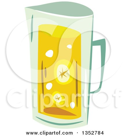 Clipart of a Pitcher of Lemonade or Tea - Royalty Free Vector Illustration by BNP Design Studio