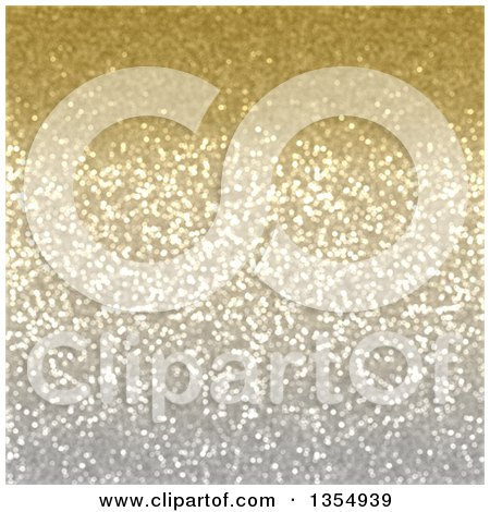 Clipart of a Christmas Background of Golden Sparkly Glitter - Royalty Free Illustration by KJ Pargeter