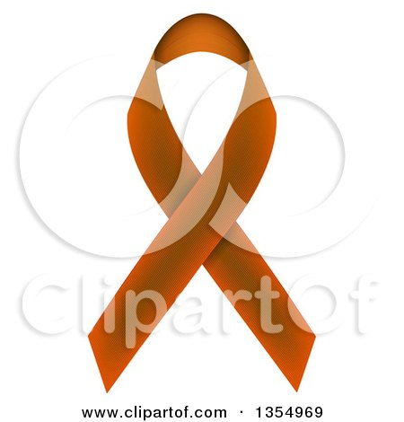 Clipart of a Brown Awareness Ribbon - Royalty Free Vector Illustration by vectorace