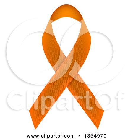 Clipart of an Orange Awareness Ribbon - Royalty Free Vector Illustration by vectorace