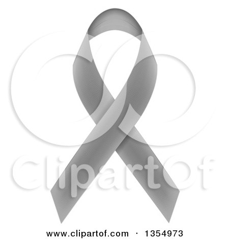 Clipart of a Gray Awareness Ribbon - Royalty Free Vector Illustration by vectorace