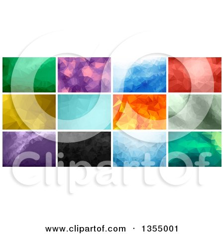 Clipart of Geometric Polygonal Backgrounds - Royalty Free Vector Illustration by vectorace