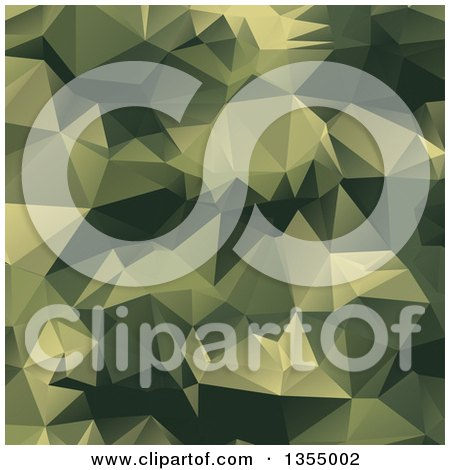 Clipart of a Green Low Poly Geometric Background - Royalty Free Vector Illustration by vectorace