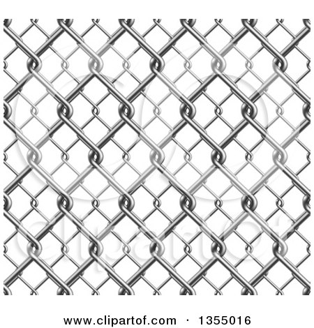 Clipart of a 3d Seamless Chainlink Fence Background - Royalty Free Vector Illustration by vectorace