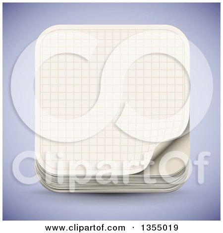 Clipart Of A Sheet Of Math Graph Paper - Royalty Free Vector