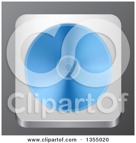 Clipart of a 3d Optical Disk App Icon over Gray - Royalty Free Vector Illustration by vectorace