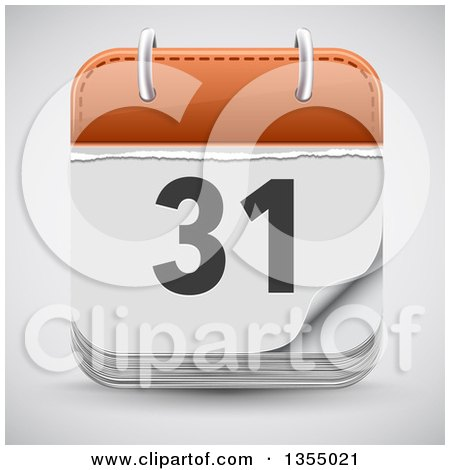 Clipart of a Date Calendar App Icon over Shading - Royalty Free Vector Illustration by vectorace