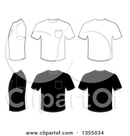 clipart of outline and black men s t shirts with pockets royalty rh clipartof com shirt clipart with 3 straps shirt clipart image