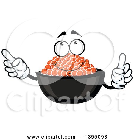 Clipart of a Cartoon Red Caviar Character - Royalty Free Vector Illustration by Vector Tradition SM