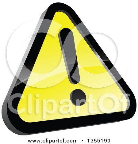 Clipart of a Shiny Hazard Warning Sign - Royalty Free Vector Illustration by Vector Tradition SM
