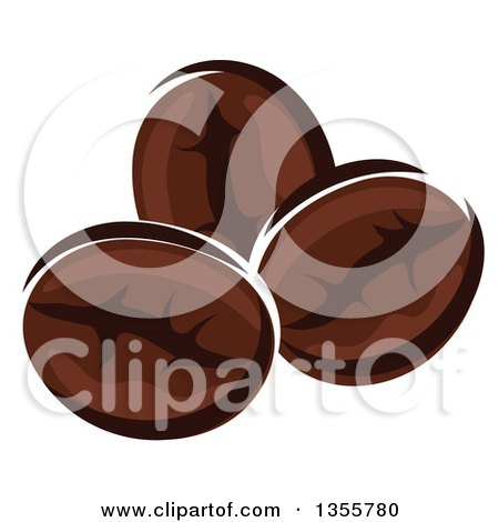 Clipart of Cartoon Coffee Beans - Royalty Free Vector Illustration by Vector Tradition SM