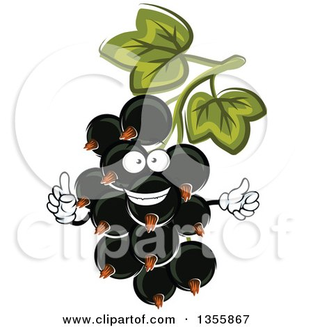 Clipart of a Cartoon Black Currant Character - Royalty Free Vector Illustration by Vector Tradition SM