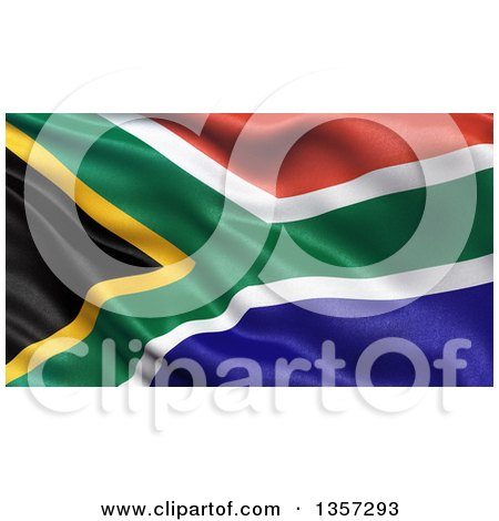 Clipart of a 3d Rippling Flag of South Africa - Royalty Free Illustration by stockillustrations