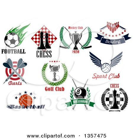 Clipart of Sports Designs with Text - Royalty Free Vector Illustration by Vector Tradition SM