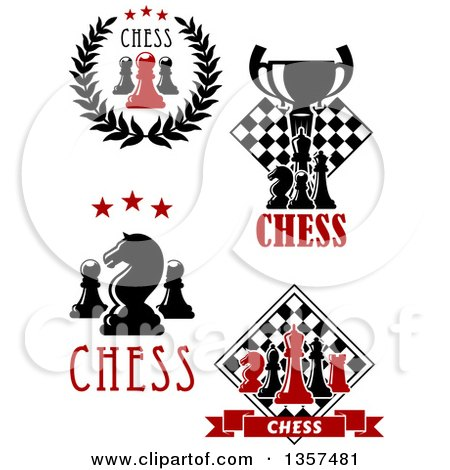 Clipart of Chess Designs with Text - Royalty Free Vector Illustration by Vector Tradition SM