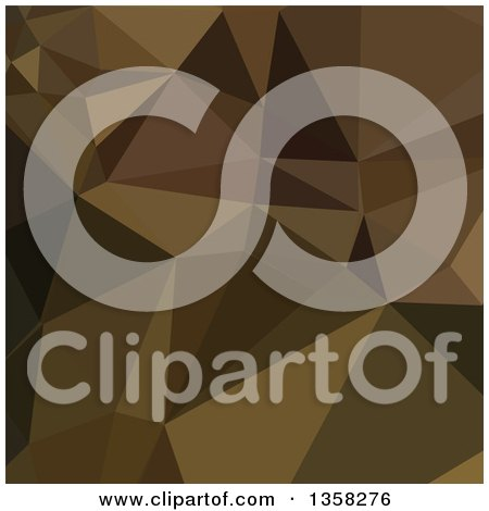 Clipart of a Carput Mortuum Brown Low Poly Abstract Geometric Background - Royalty Free Vector Illustration by patrimonio