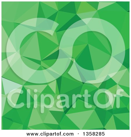Clipart of an Inchworm Green Low Poly Abstract Geometric Background - Royalty Free Vector Illustration by patrimonio
