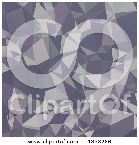 Clipart of a Lavender Purple Low Poly Abstract Geometric Background - Royalty Free Vector Illustration by patrimonio