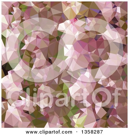 Clipart of a Lavender Rose Pink Low Poly Abstract Geometric Background - Royalty Free Vector Illustration by patrimonio