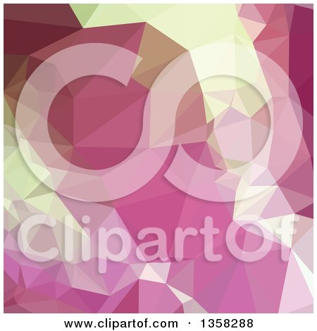 Clipart of a Light Thulian Pink Low Poly Abstract Geometric Background - Royalty Free Vector Illustration by patrimonio