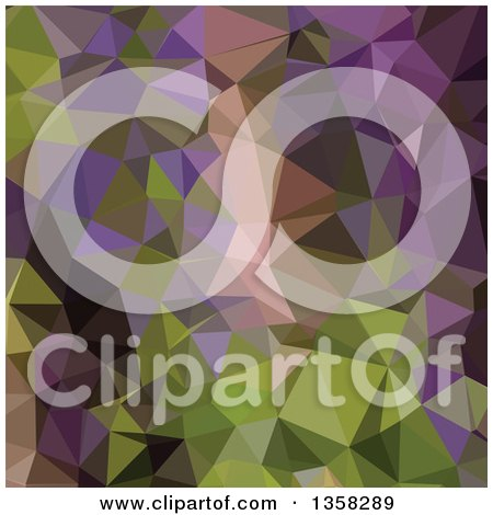 Clipart of a Palatinate Purple Low Poly Abstract Geometric Background - Royalty Free Vector Illustration by patrimonio