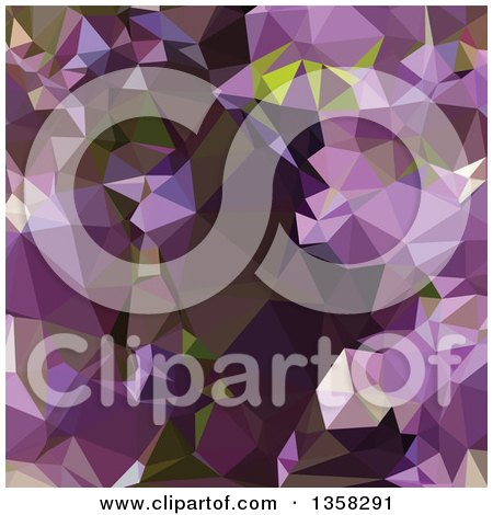 Clipart of a Rich Lilac Purple Low Poly Abstract Geometric Background - Royalty Free Vector Illustration by patrimonio