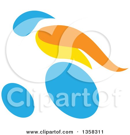Clipart of a Colorful Athlete Racing in a Wheelchair - Royalty Free Vector Illustration by patrimonio