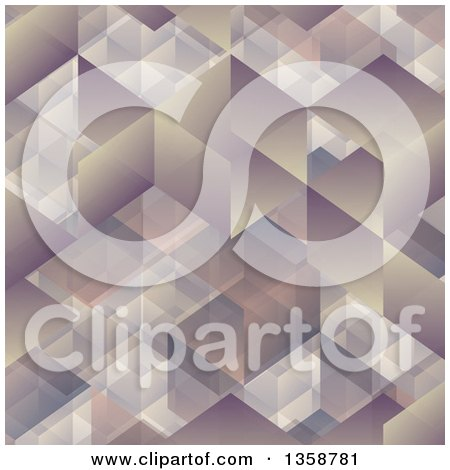 Clipart of a Cubic Geometric Background - Royalty Free Vector Illustration by KJ Pargeter