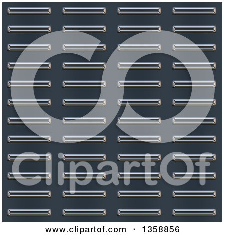 Clipart of a Seamless Bumped Metal Plate Texture Background - Royalty Free Illustration by Arena Creative