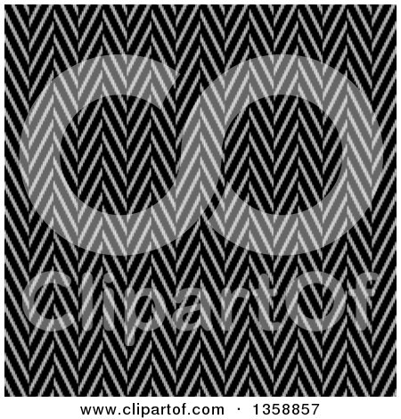 Clipart of a Seamless Background of a Black and White Twill Weave Texture - Royalty Free Illustration by Arena Creative