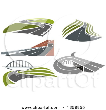 Clipart of Highways and Roads - Royalty Free Vector Illustration by Vector Tradition SM