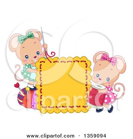 Cute Cartoon Girl Mouse