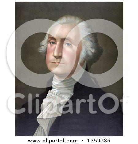 Historical Portrait of George Washington - Royalty Free Illustration by JVPD