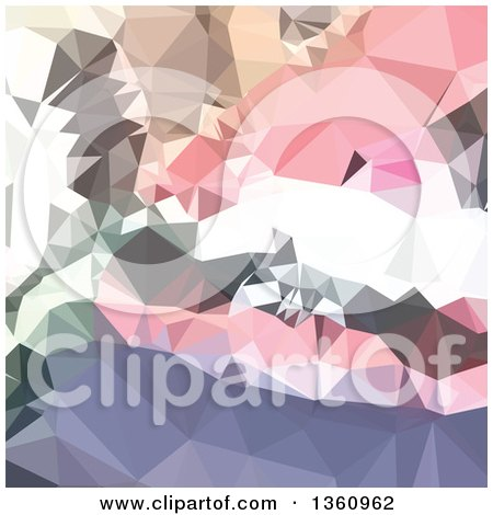 Clipart of a Lavender and Pink Low Poly Abstract Geometric Background - Royalty Free Vector Illustration by patrimonio