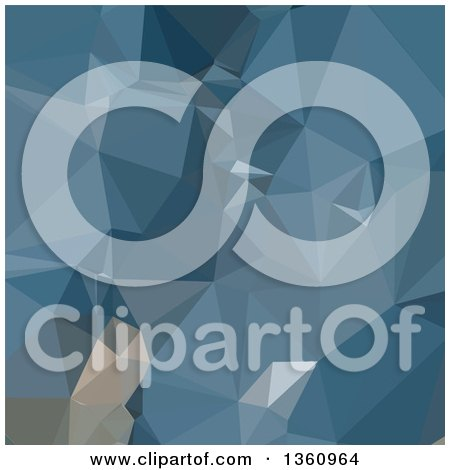 Clipart of a Cerulean Frost Blue Low Poly Abstract Geometric Background - Royalty Free Vector Illustration by patrimonio