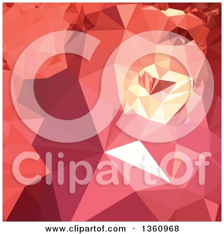Clipart of a Bittersweet Red Low Poly Abstract Geometric Background - Royalty Free Vector Illustration by patrimonio