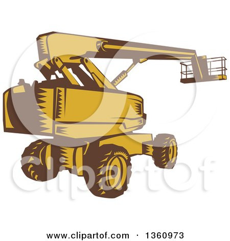 Clipart Blue Eyed Orange Excavator Character Royalty