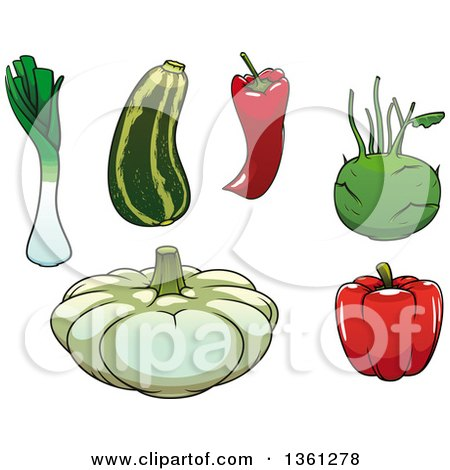 Clipart of Cartoon Vegetables - Royalty Free Vector Illustration by Vector Tradition SM