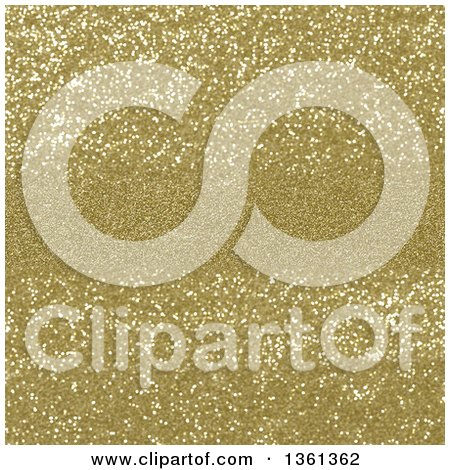 Clipart of a Christmas Background of Golden Sparkly Glitter with a Center Area for Text - Royalty Free Illustration by KJ Pargeter