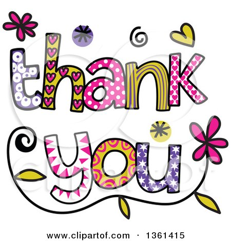 Royalty Free RF Thank You Clipart Illustrations Vector