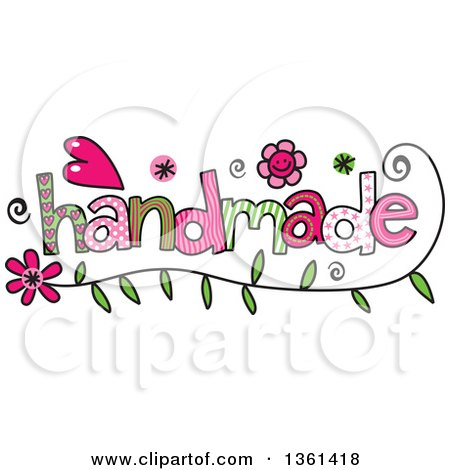 Clipart of Colorful Sketched Handmade Word Art - Royalty Free Vector Illustration by Prawny
