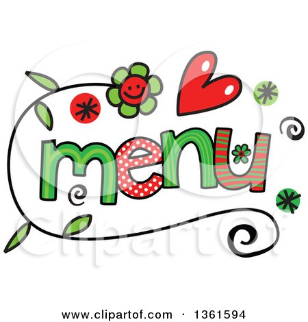 Royalty-Free (RF) Menu Clipart, Illustrations, Vector Graphics #1