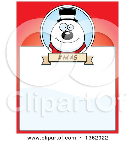 Clipart of a Happy Christmas Snowman - Royalty Free Vector ...
