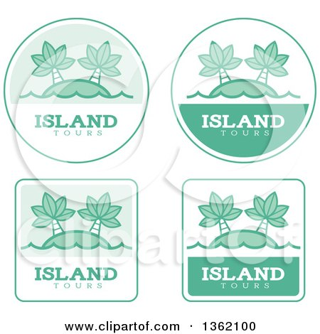 Clipart of Island Tour Icons - Royalty Free Vector Illustration by Cory Thoman