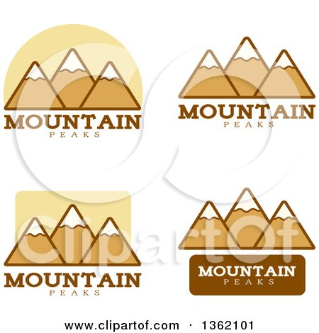 Clipart of Mountain Peak Icons - Royalty Free Vector Illustration by Cory Thoman