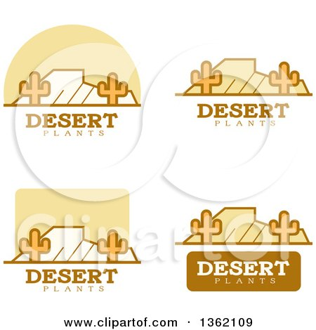 Clipart of Desert Icons - Royalty Free Vector Illustration by Cory Thoman
