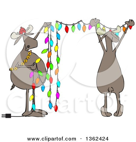 Hanging Christmas Lights Royalty Free Vector Illustration Preview Clipart
