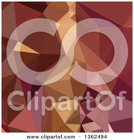 Clipart of a Heather Purple Low Poly Abstract Geometric Background - Royalty Free Vector Illustration by patrimonio